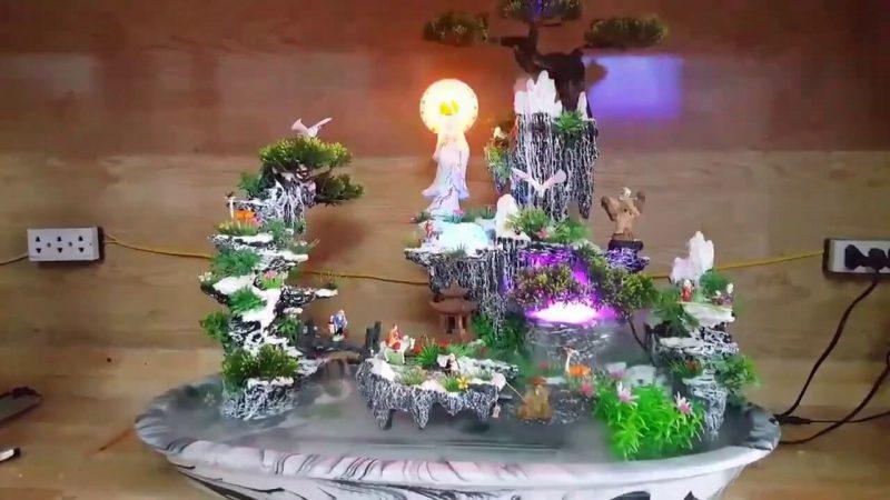 Hòn Non Bộ mini Avatar có tượng phật Quan Âm