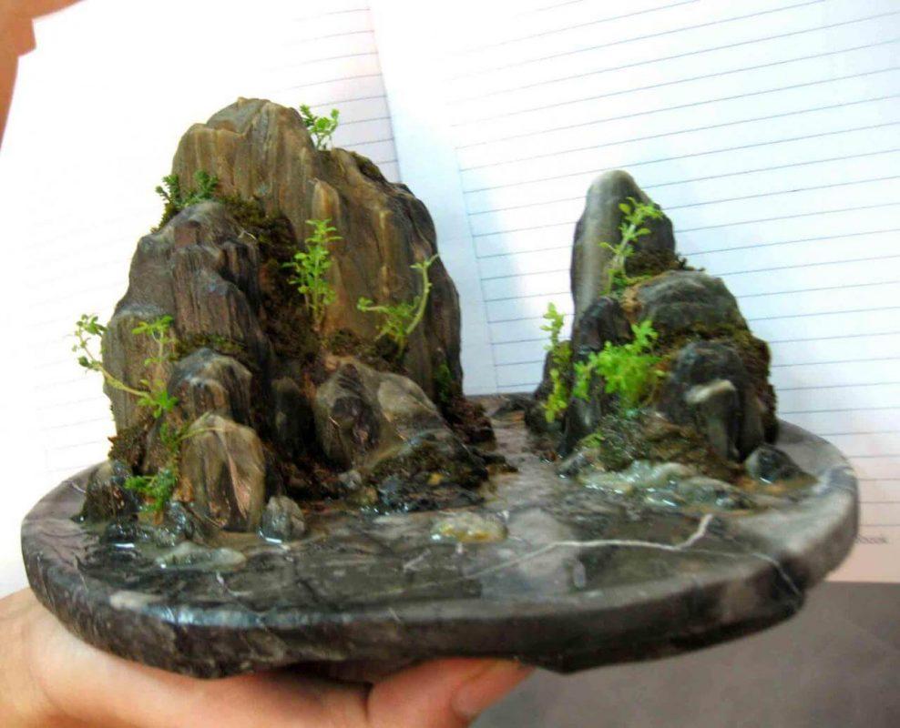 Hướng dẫn các bước sử dụng đá làm hòn non bộ rẻ