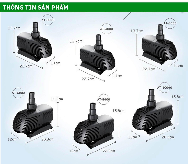 Các mẫu máy bơm Atman trên thị trường hiện nay