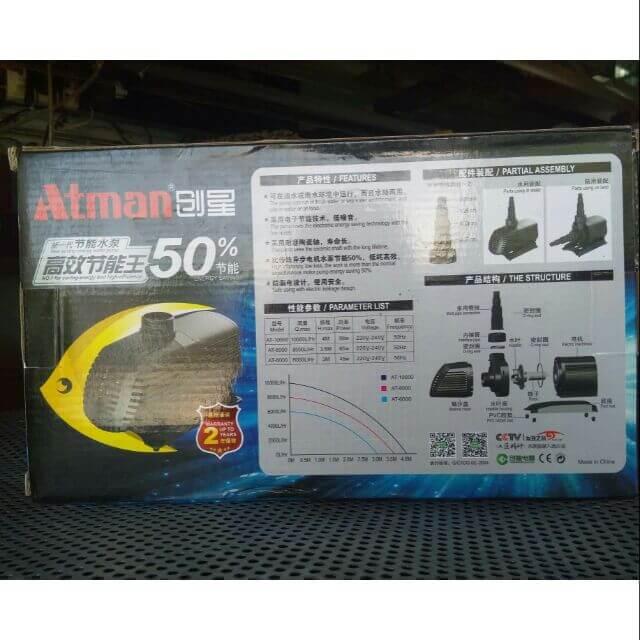 Máy bơm Atman 6000 có giá bao nhiêu?