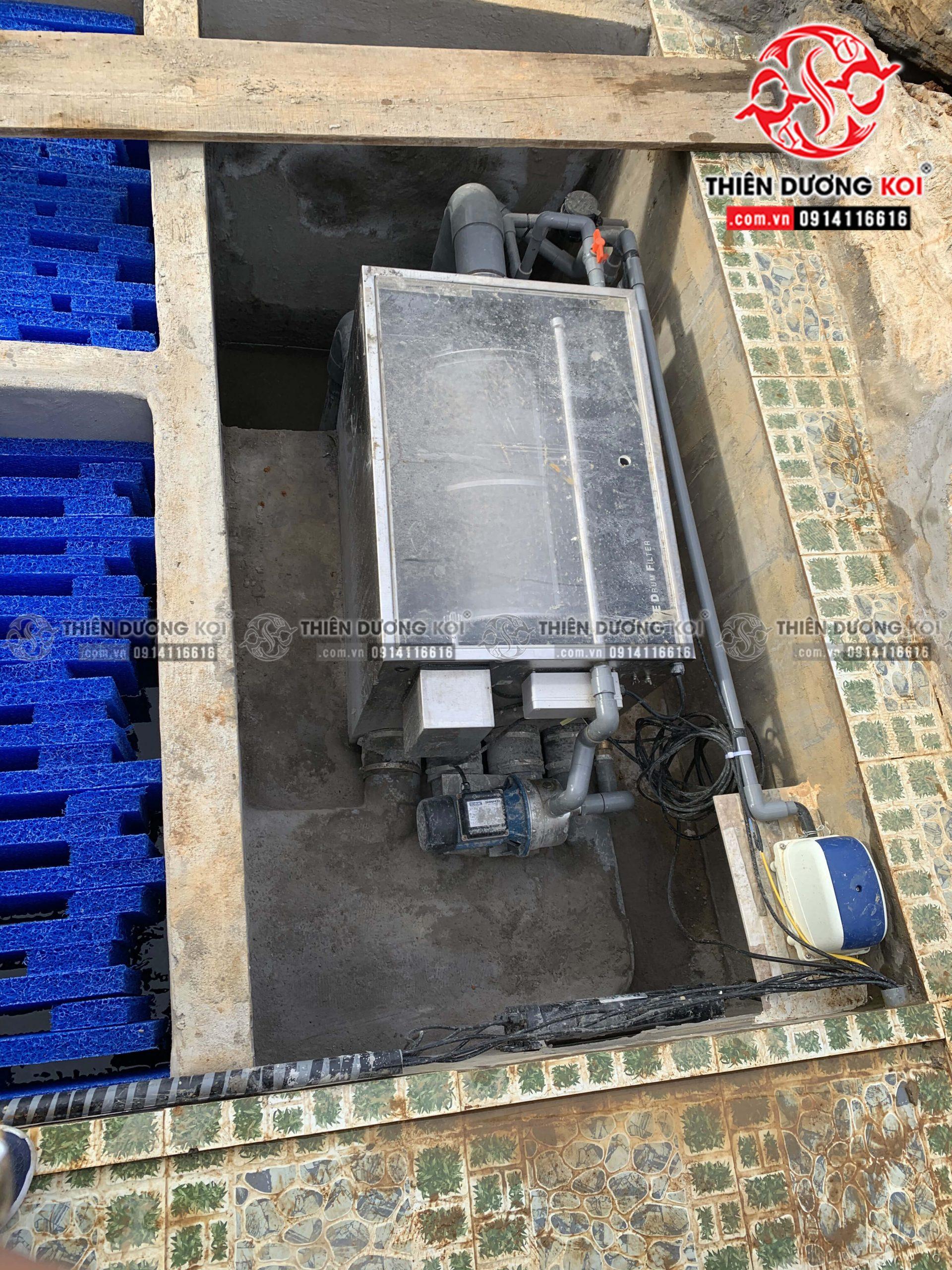 Hệ thống lọc nước hồ Koi chất lượng được Thiên Dương Koi lắp đặt