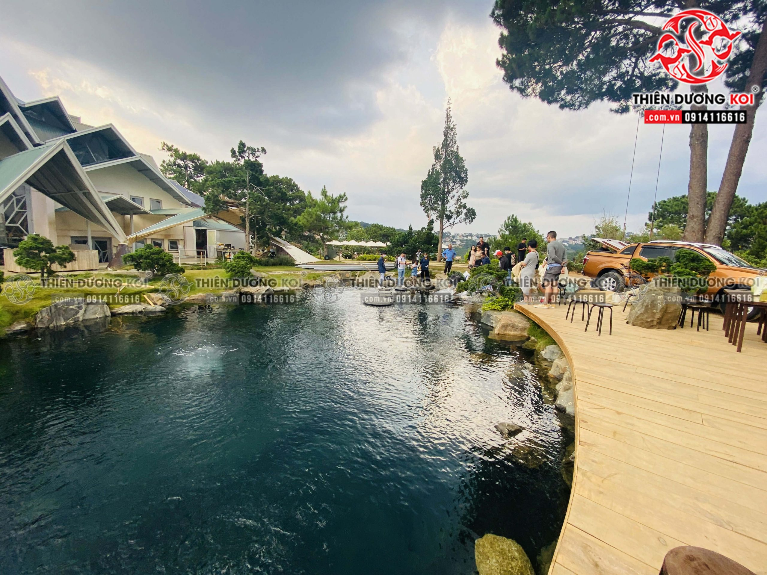 Quấ trình Thiết kế - Thi công hồ cá Koi tại khu du lịch Lá Phong - Đà Lạt
