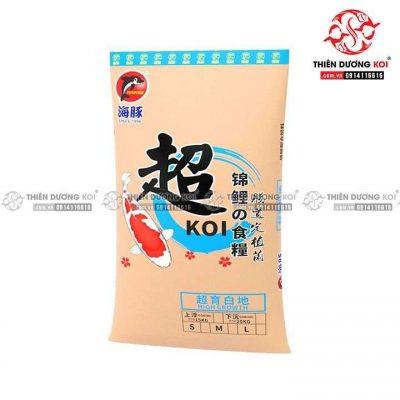 Thức ăn cá Koi Porpoise Hi-Growth pure white (40% đạm) 15kg