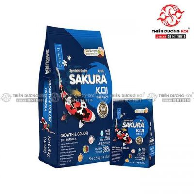 Thức ăn cá Koi Sakura Growth & Color (2in1 38%)